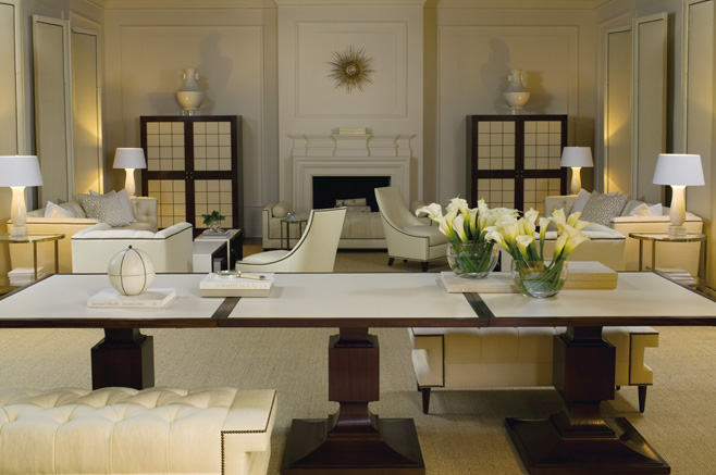 Baker white and ivory interior